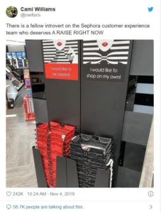 Sephora Self Shop Baskets